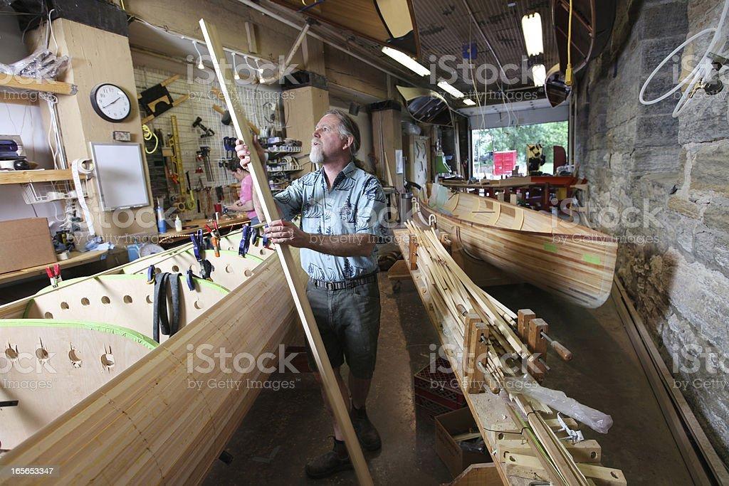 Canoe Building Small Business stock photo