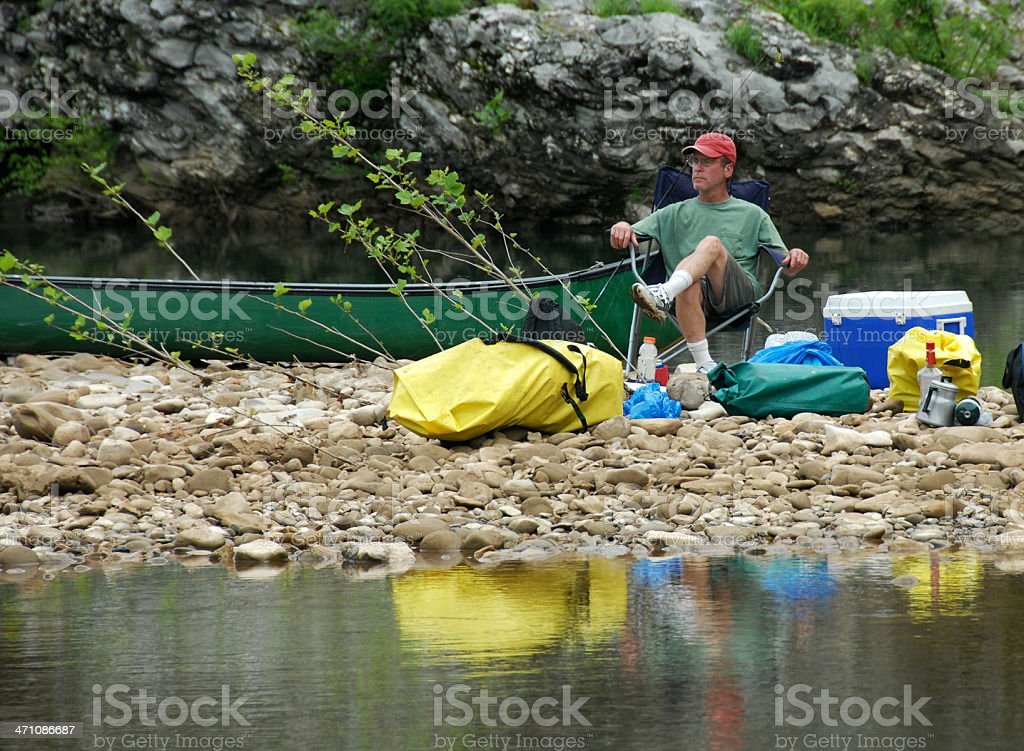 Canoe Camping royalty-free stock photo