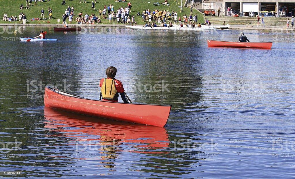 Canoe Club royalty-free stock photo