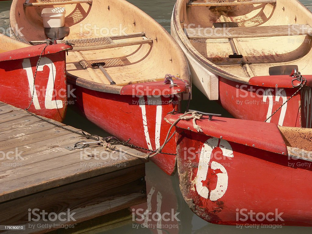 Canoe Cluster royalty-free stock photo