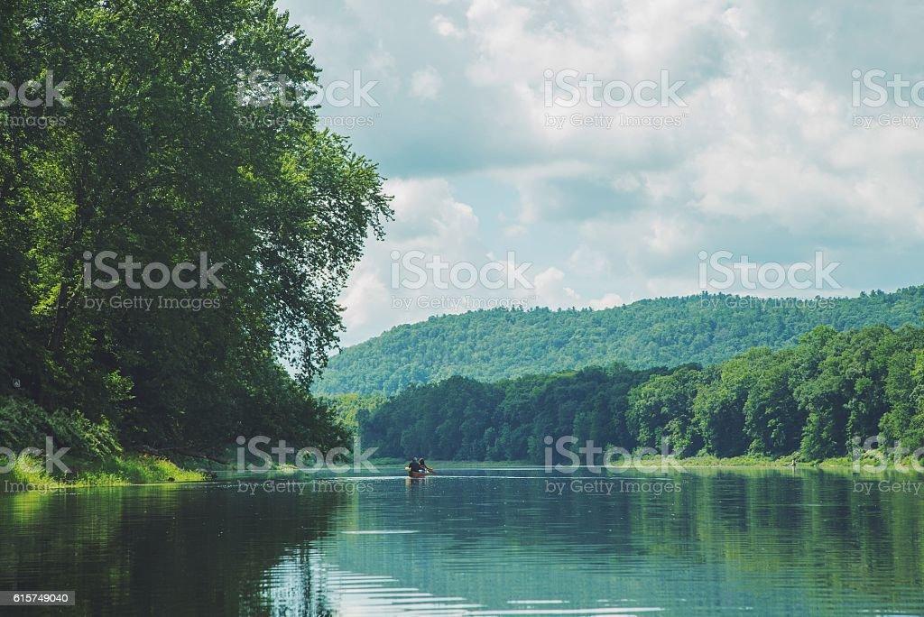 Canoe Delaware Water Gap stock photo