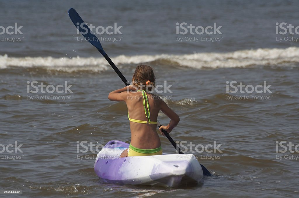 Canoe Girl royalty-free stock photo