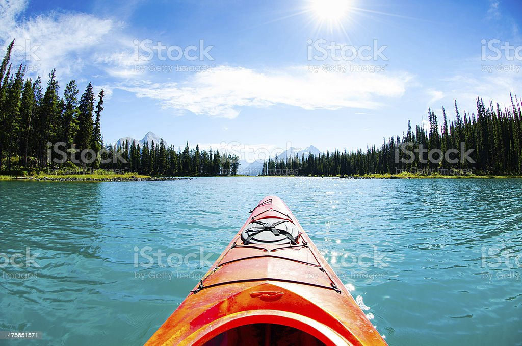 Canoe in canada stock photo