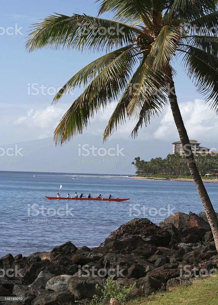 Canoe in Hawaii royalty-free stock photo