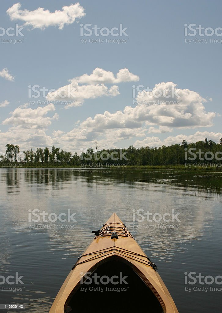 canoe in lake royalty-free stock photo