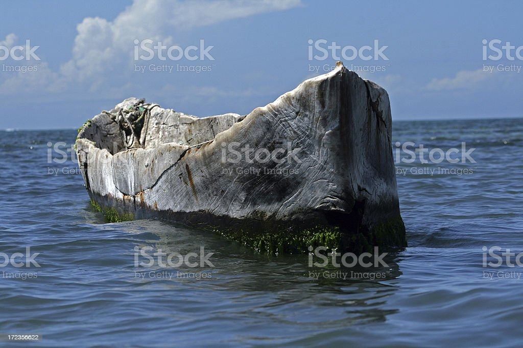 Canoe in the Indian Ocean royalty-free stock photo