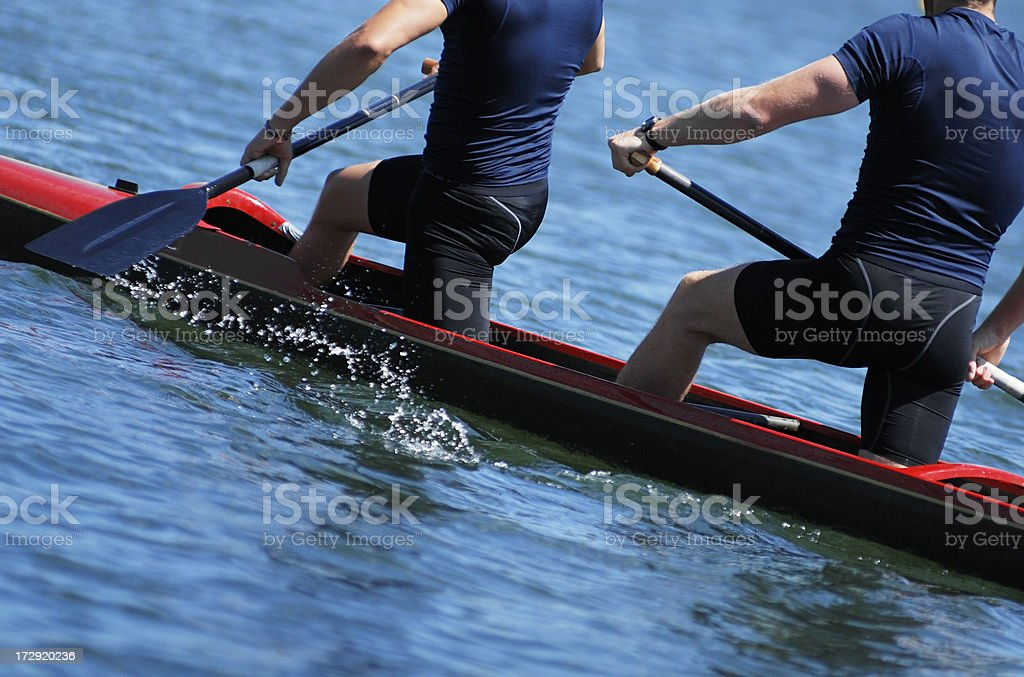 canoe kayak team royalty-free stock photo