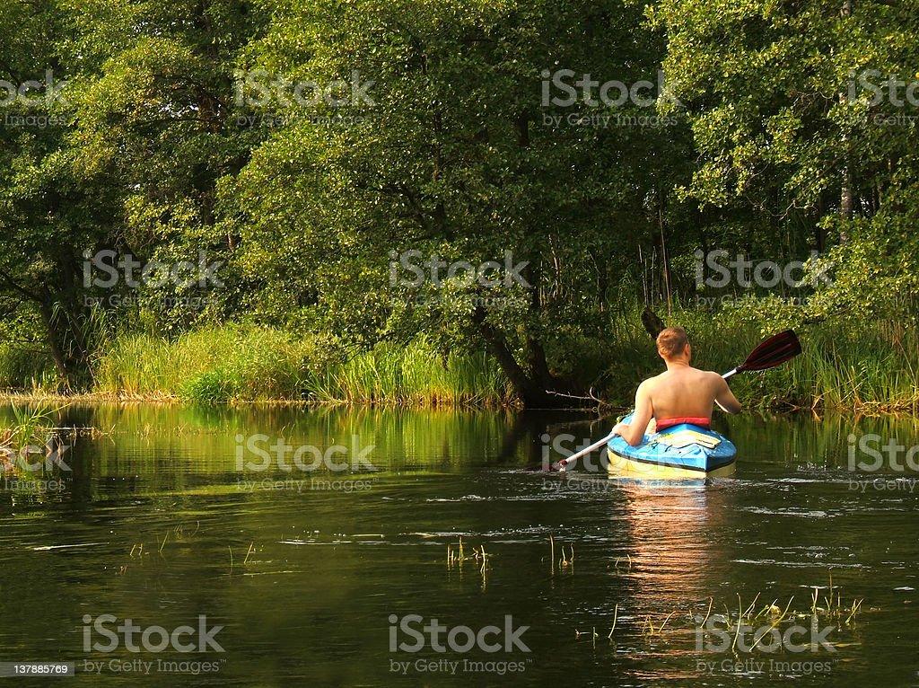 canoe on river royalty-free stock photo