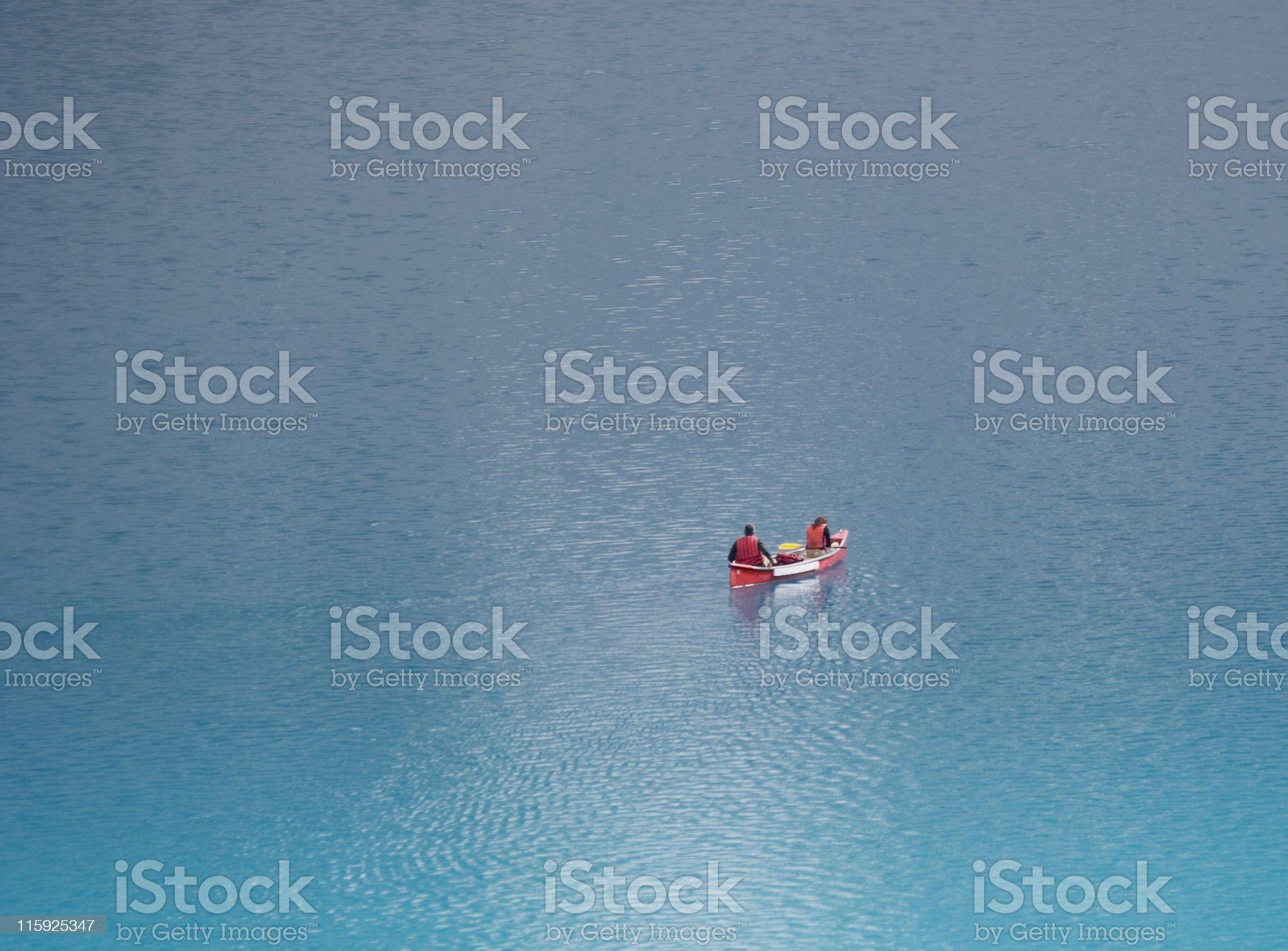 canoe on the moraine lake royalty-free stock photo