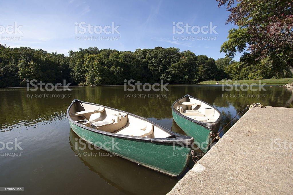 Canoe on the river royalty-free stock photo