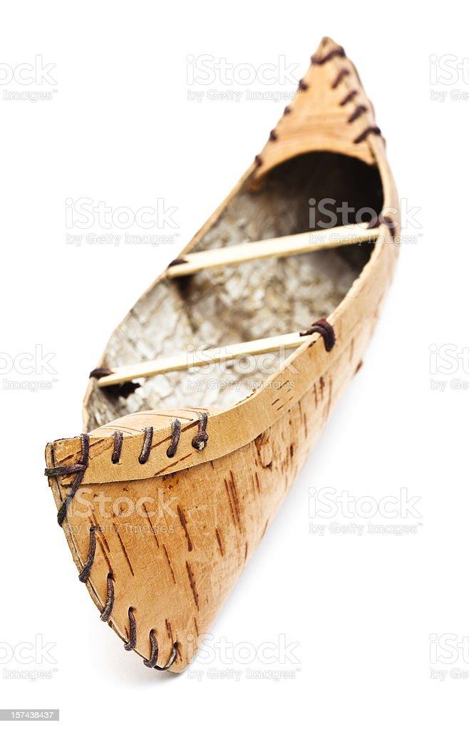 Canoe on White stock photo
