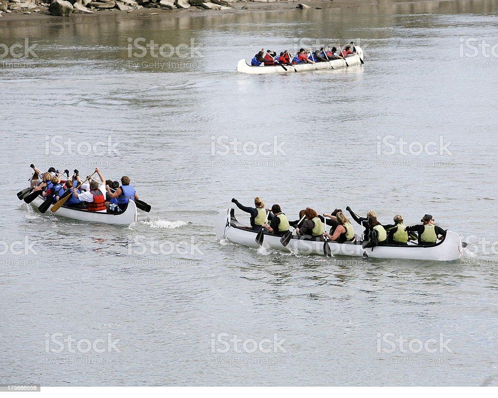 Canoe Race royalty-free stock photo