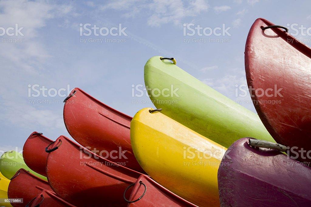 Canoe Series royalty-free stock photo