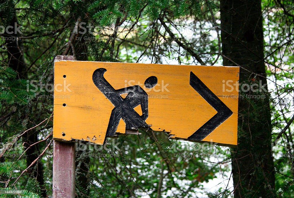 Canoe sign stock photo