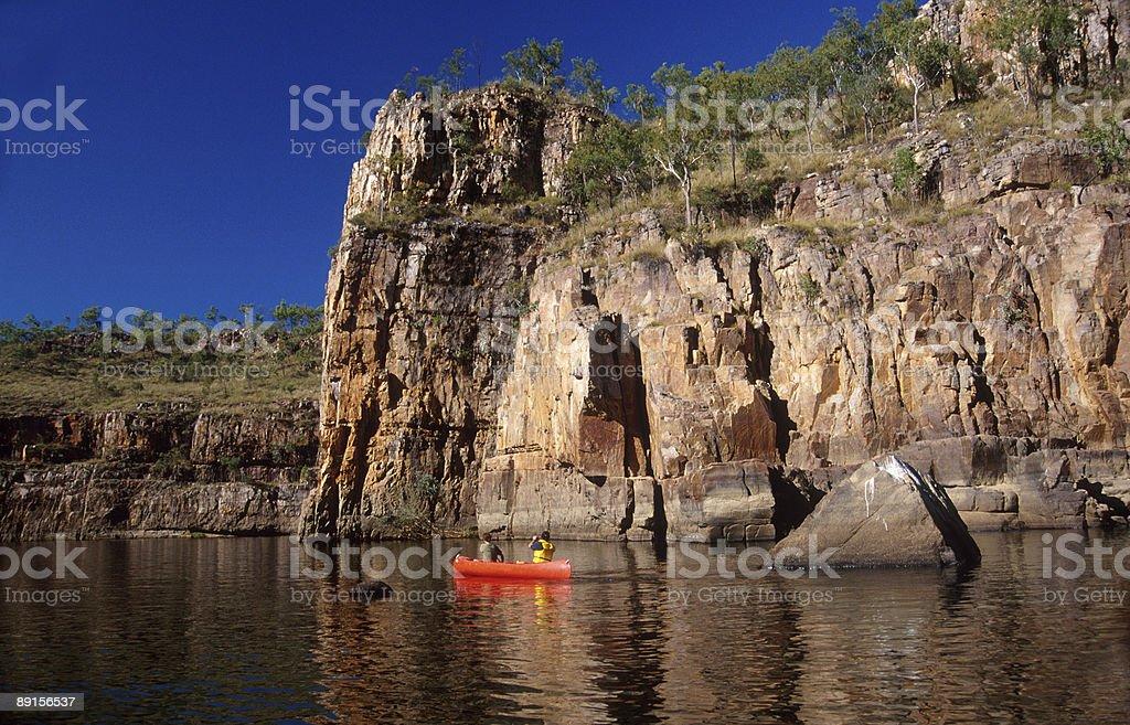Canoeing at Katherine Gorge royalty-free stock photo