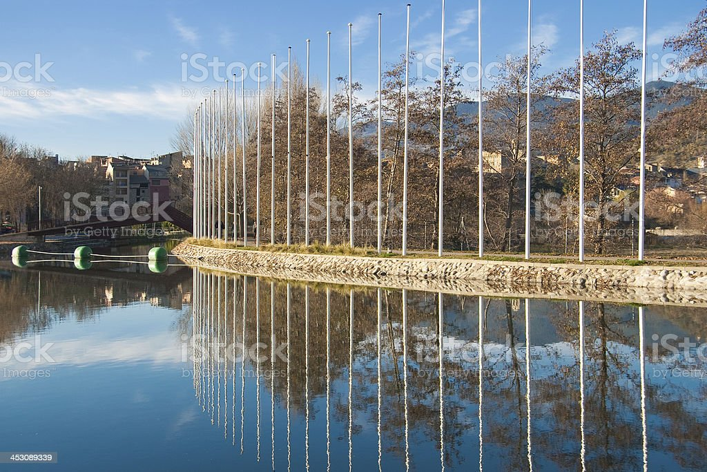 Canoeing canal of La Seu stock photo