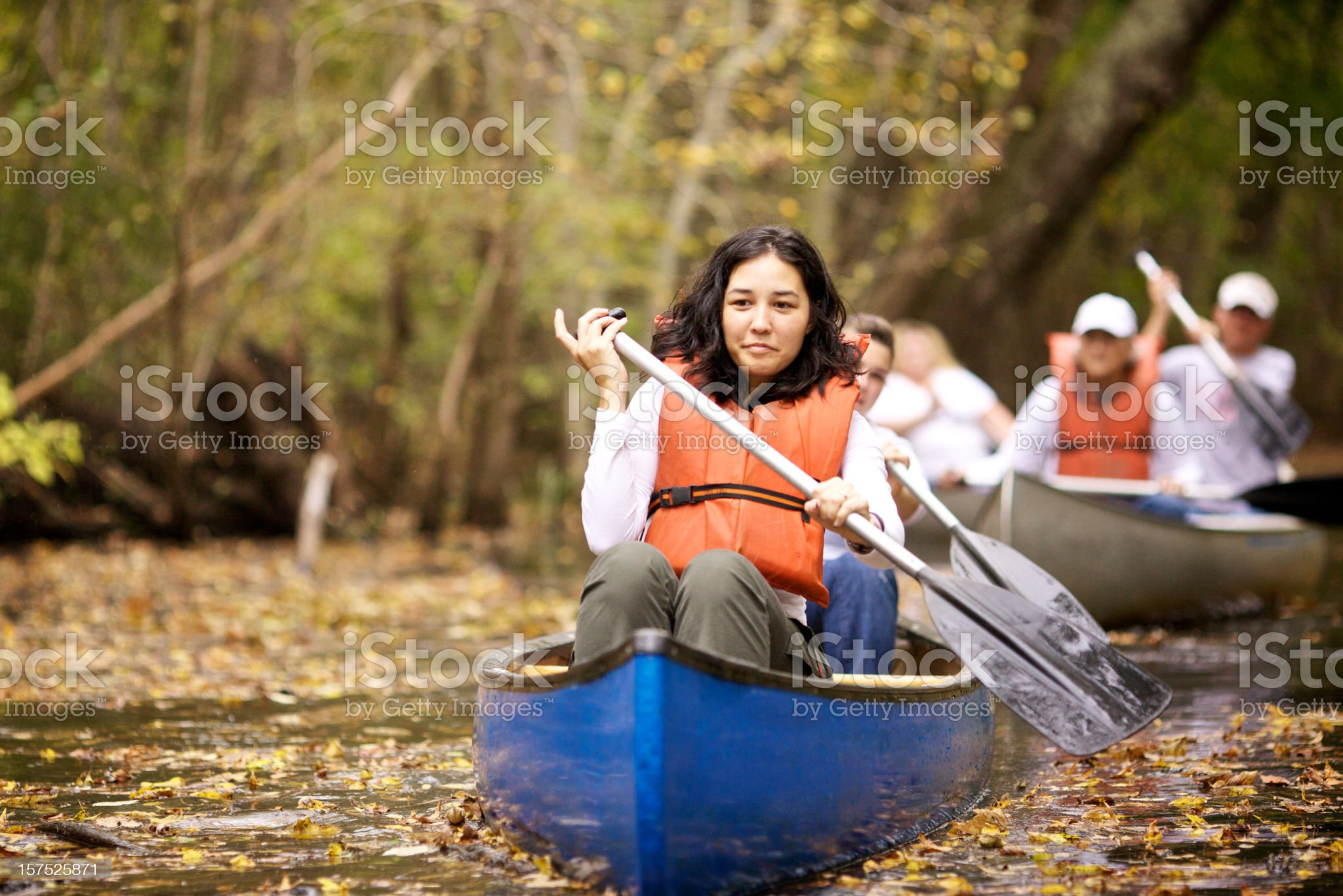 canoeing girl royalty-free stock photo