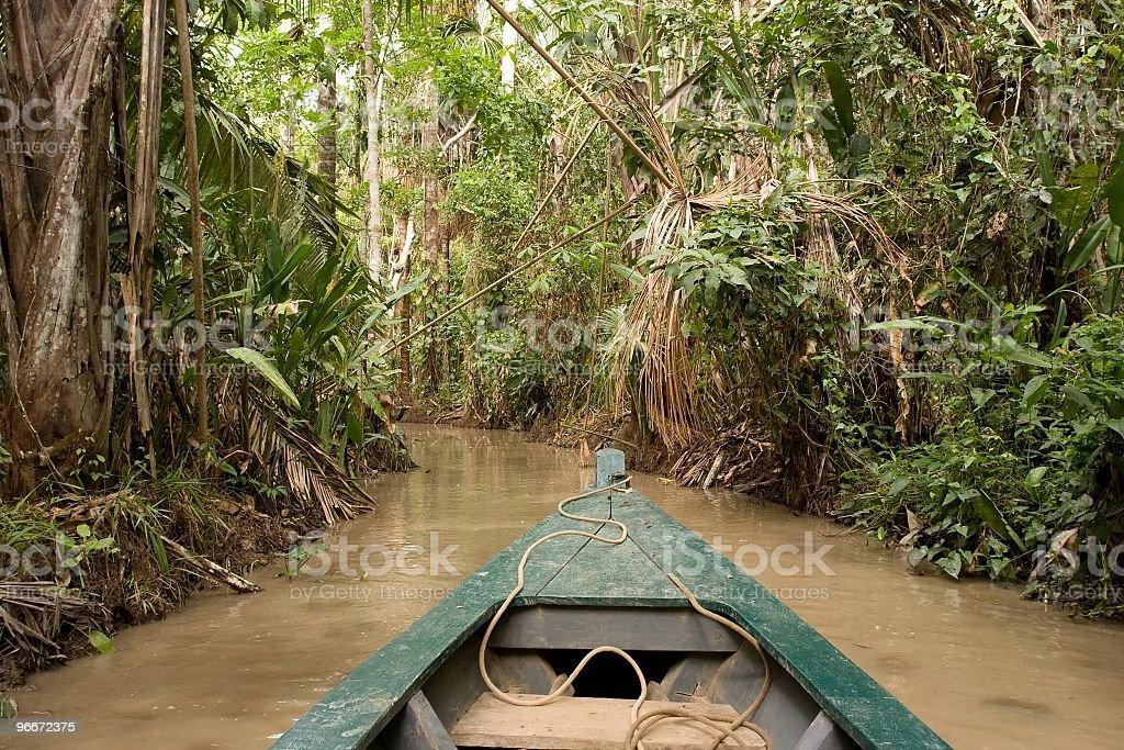 Canoeing on Lake Sandoval stock photo