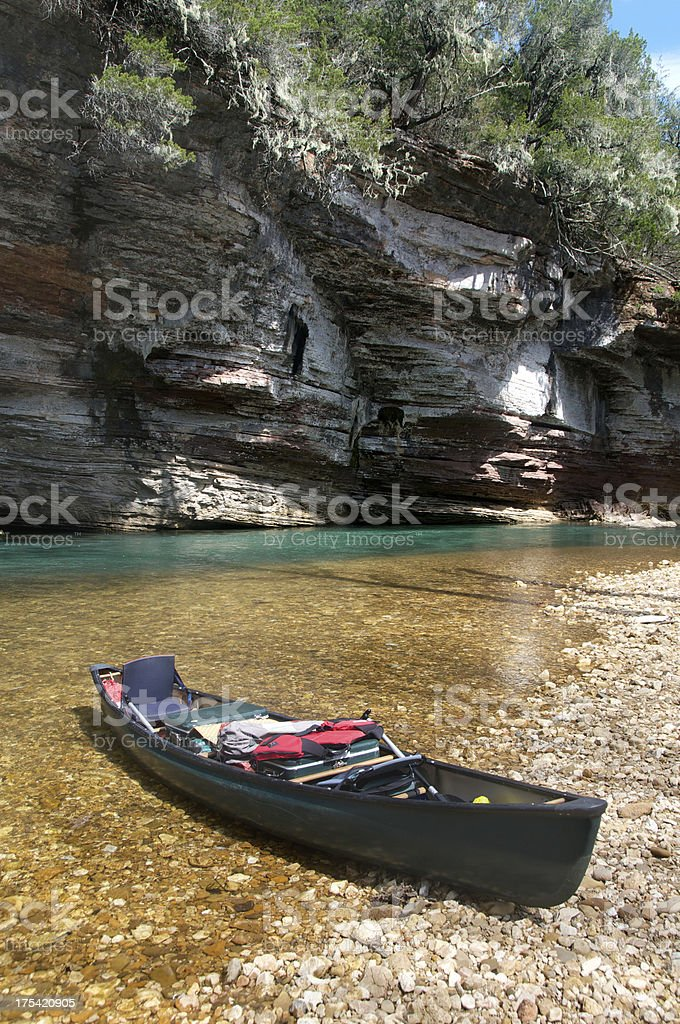 Canoeing on the Buffalo River stock photo