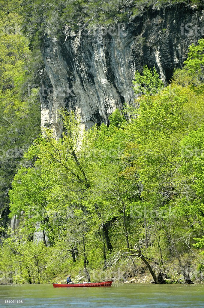 Canoeing on the Buffalo River royalty-free stock photo