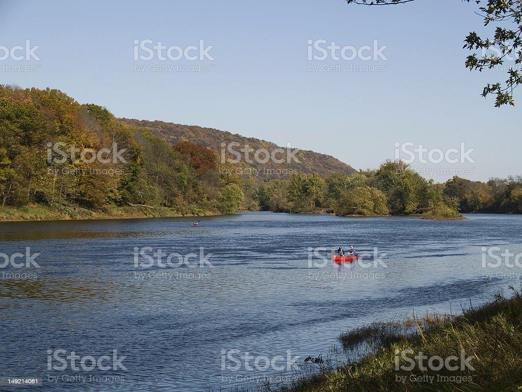 Canoeing on the Deleware stock photo