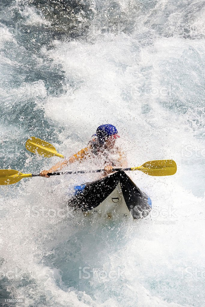 Canoeing royalty-free stock photo