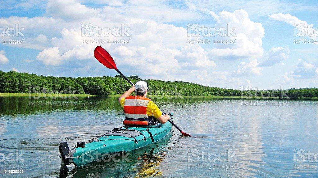 Canoeing stock photo