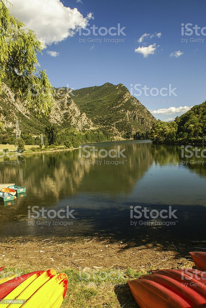 Canoeing place royalty-free stock photo