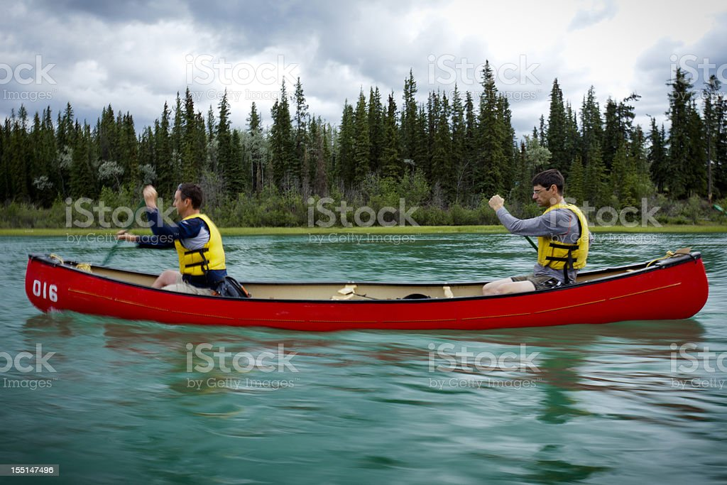 Canoeing trip. royalty-free stock photo