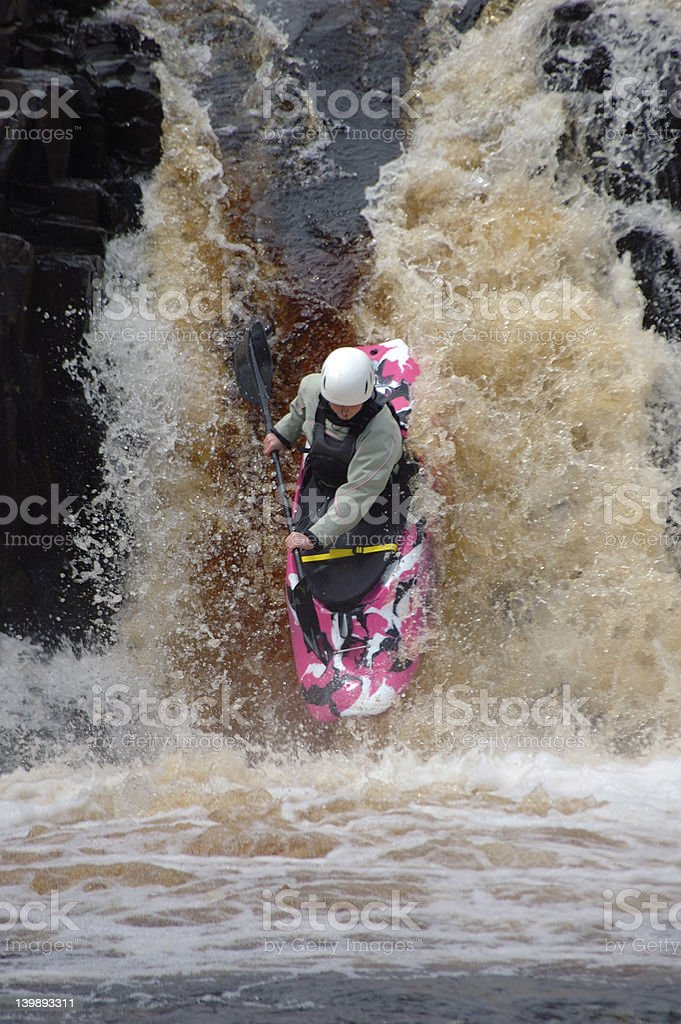 Canoeist stock photo