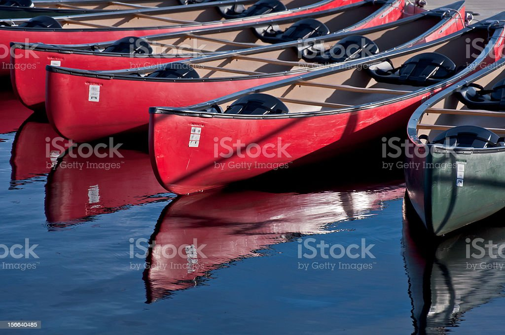 Canoes at The Dock royalty-free stock photo