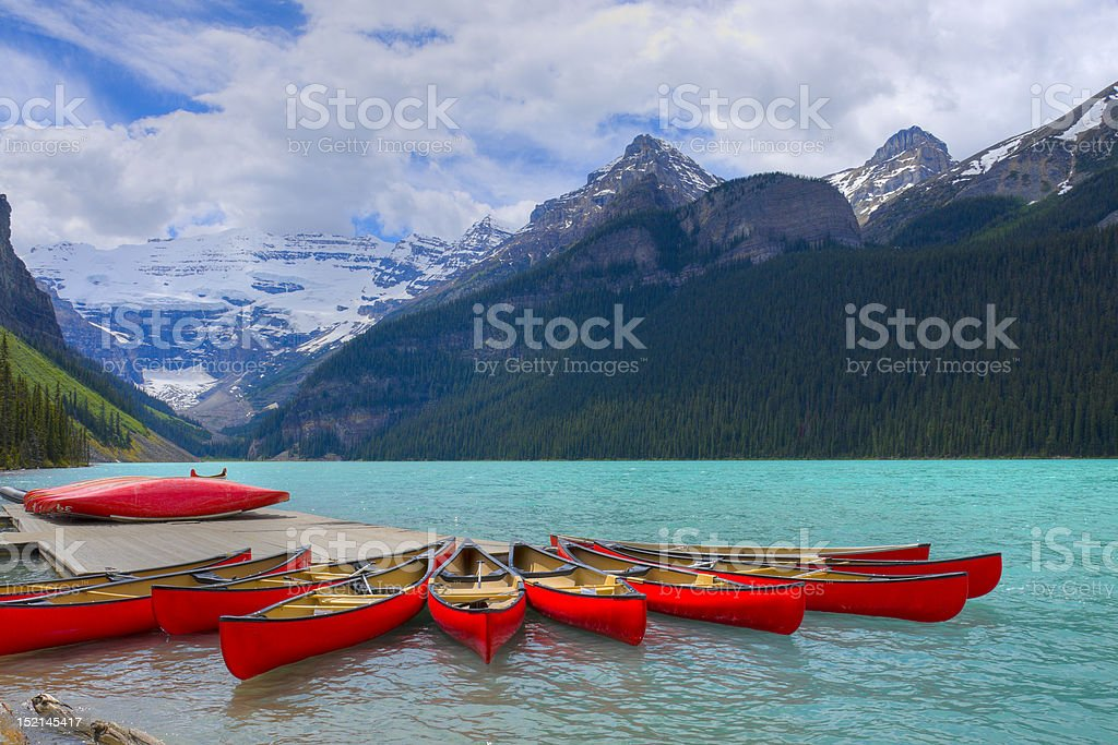 HDR Canoes royalty-free stock photo