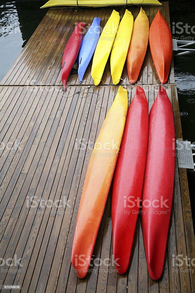 canoes royalty-free stock photo