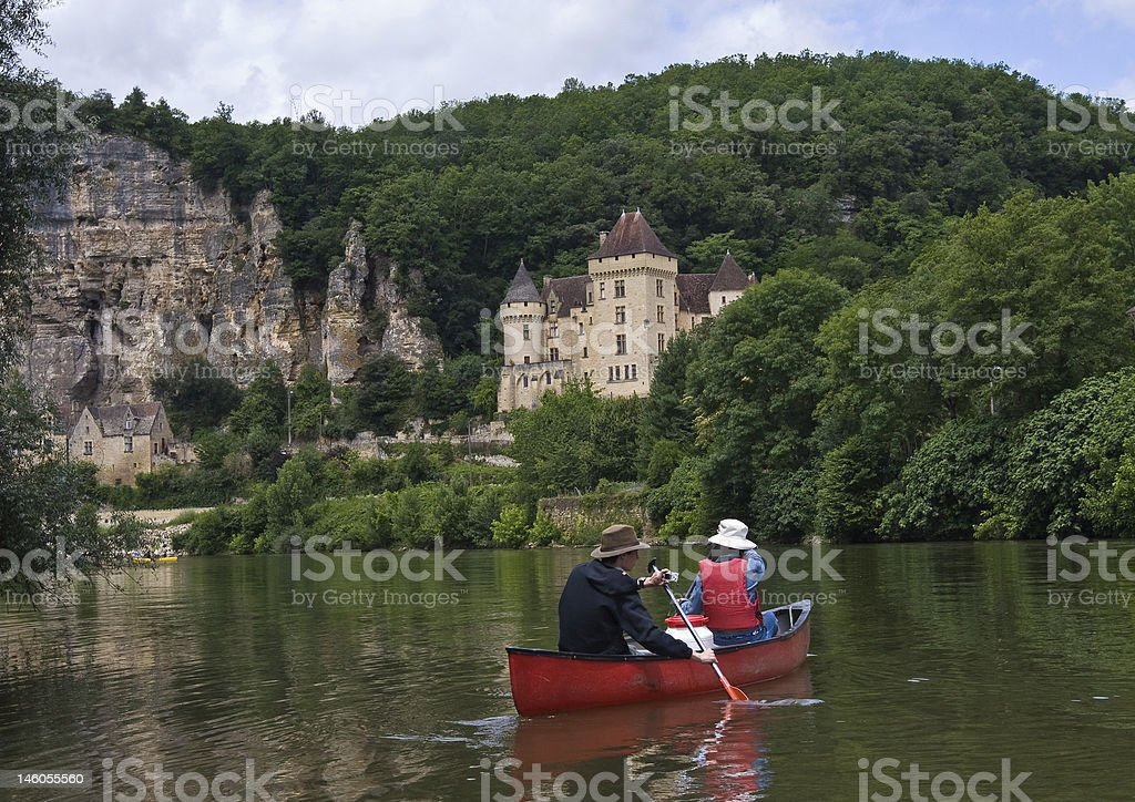Canoing among Castles stock photo