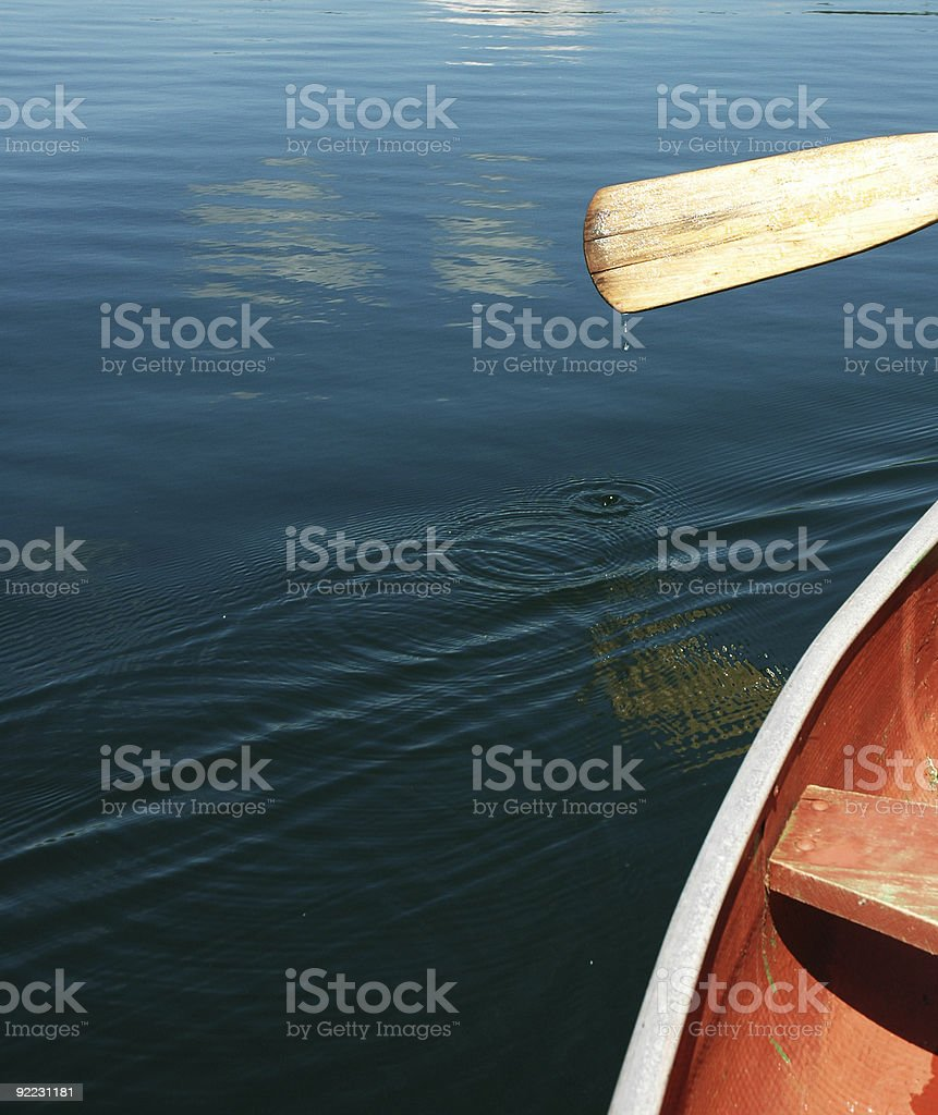 Canoing royalty-free stock photo