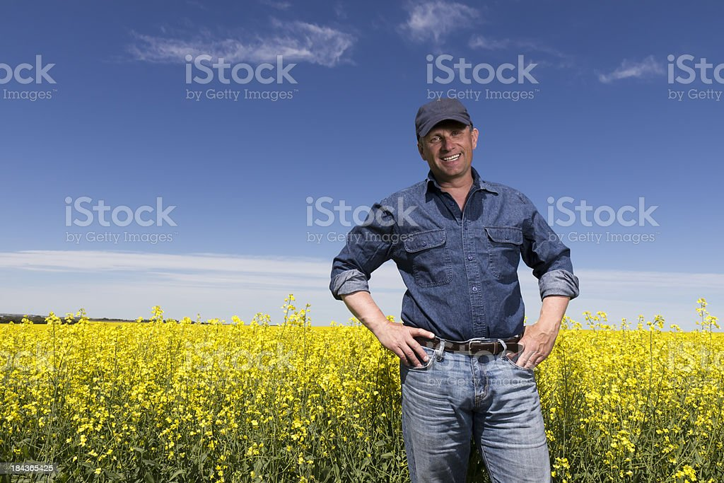 Canola Farmer stock photo