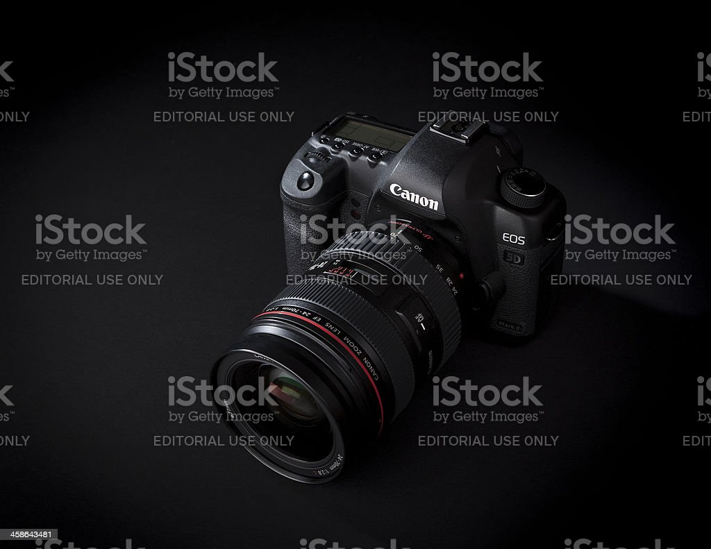 Canon 24-70mm 2.8 L Series Lens with 5D Mark II stock photo