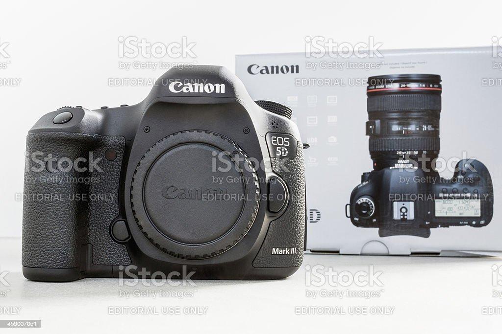 Canon 5D Mark III Camera with Original Box stock photo