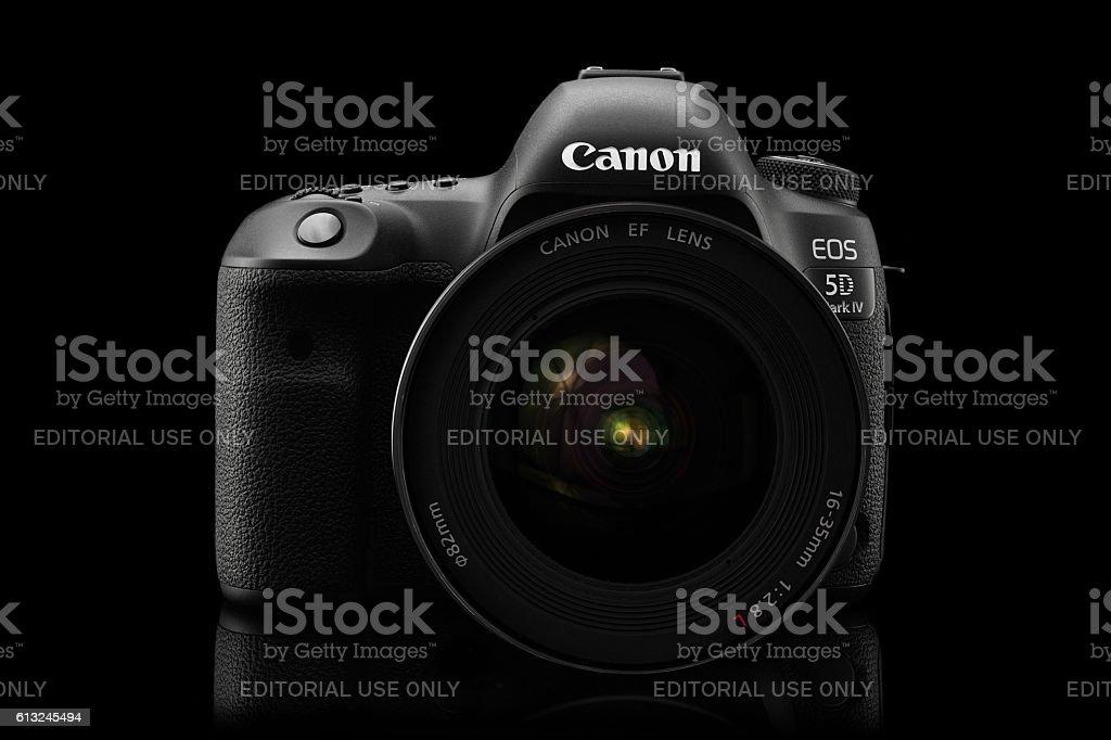 Varna, Bulgaria - September 24, 2016:Canon 5D Mark IV camera stock photo