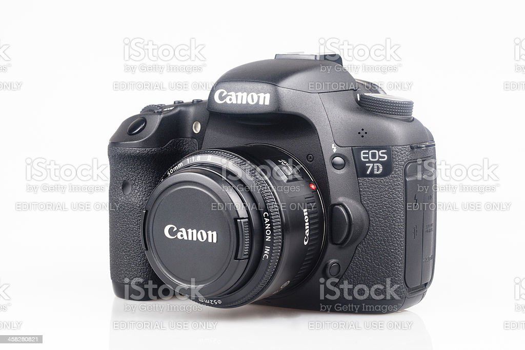 Canon 7D with 50mm lens royalty-free stock photo