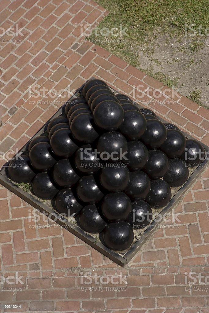 Canon Ball Pyramid stock photo