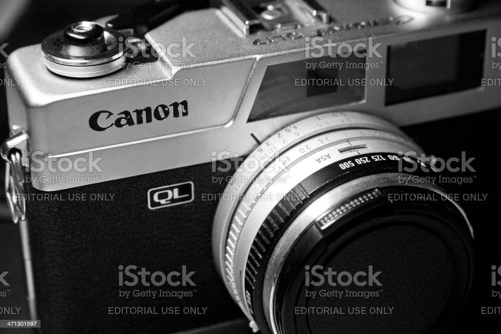 Canon Canonet QL 17 camera stock photo