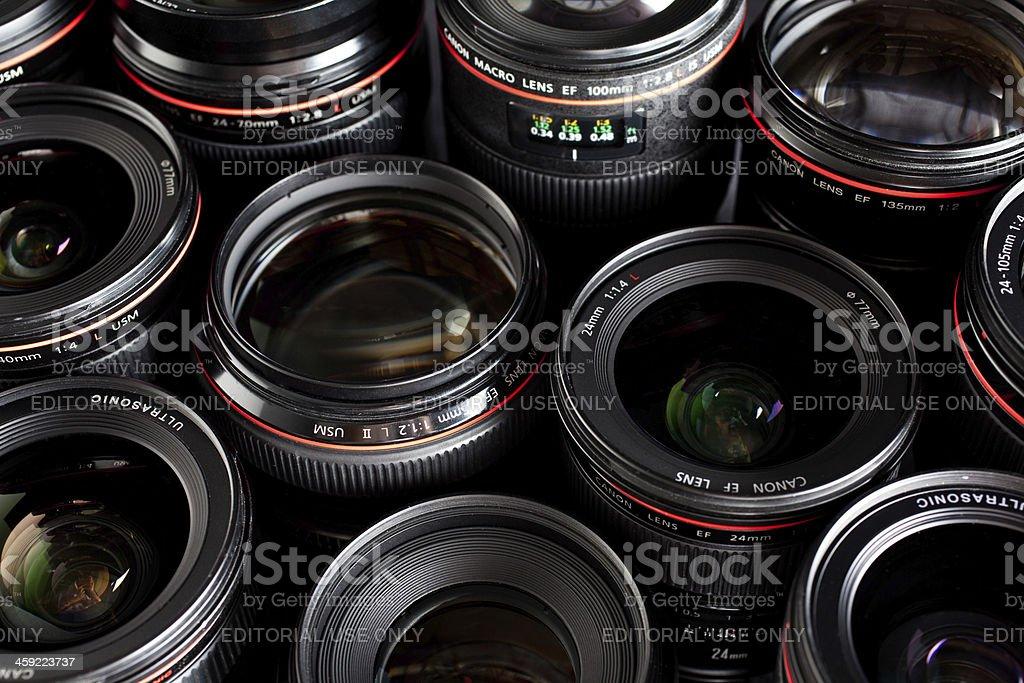 Canon DSLR L lenses royalty-free stock photo