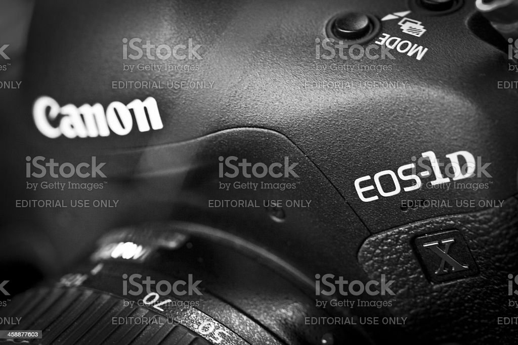 Canon EOS-1D X Digital SLR Camera royalty-free stock photo