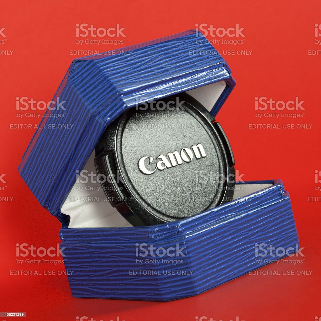 Canon. Jewelry box royalty-free stock photo