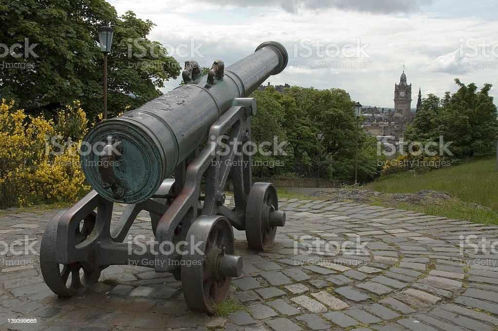 Canon Over Edinburgh royalty-free stock photo