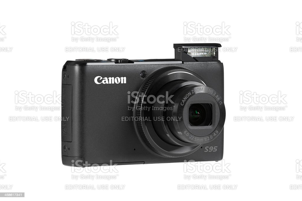 Canon S95 camera royalty-free stock photo