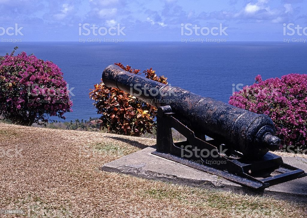 Canon, Scarborough, Tobago stock photo