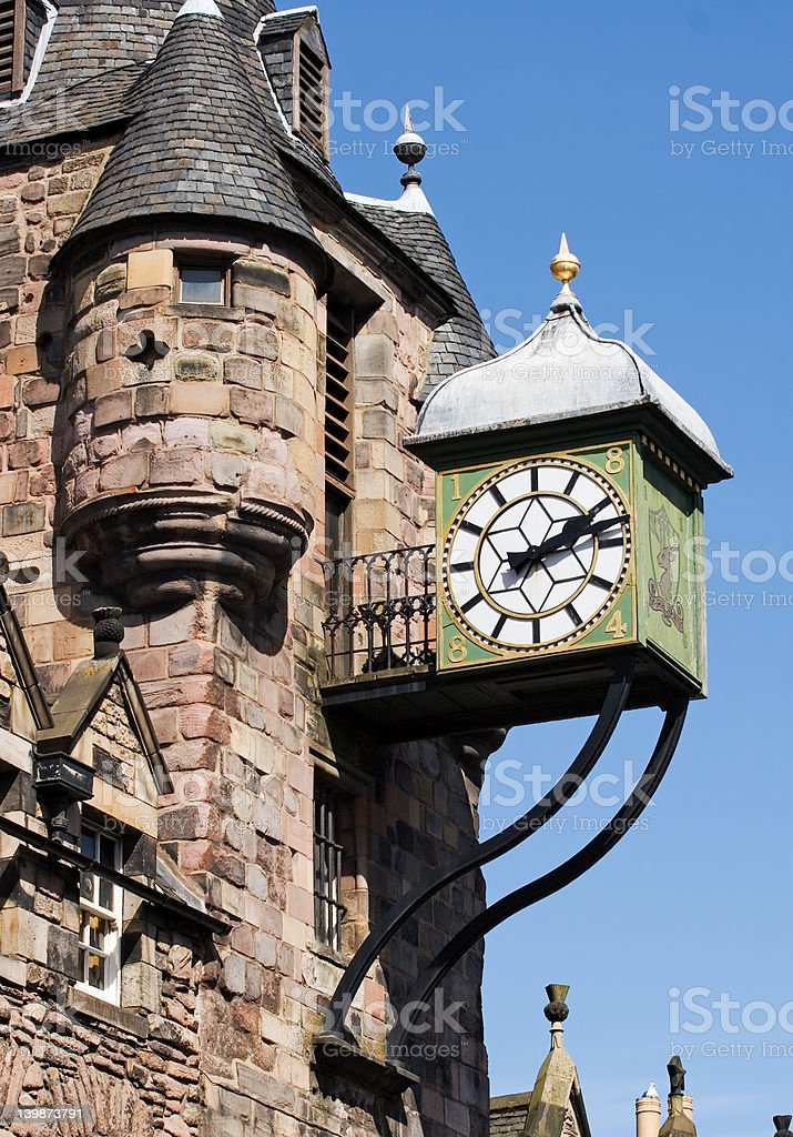 Canongate Clock stock photo