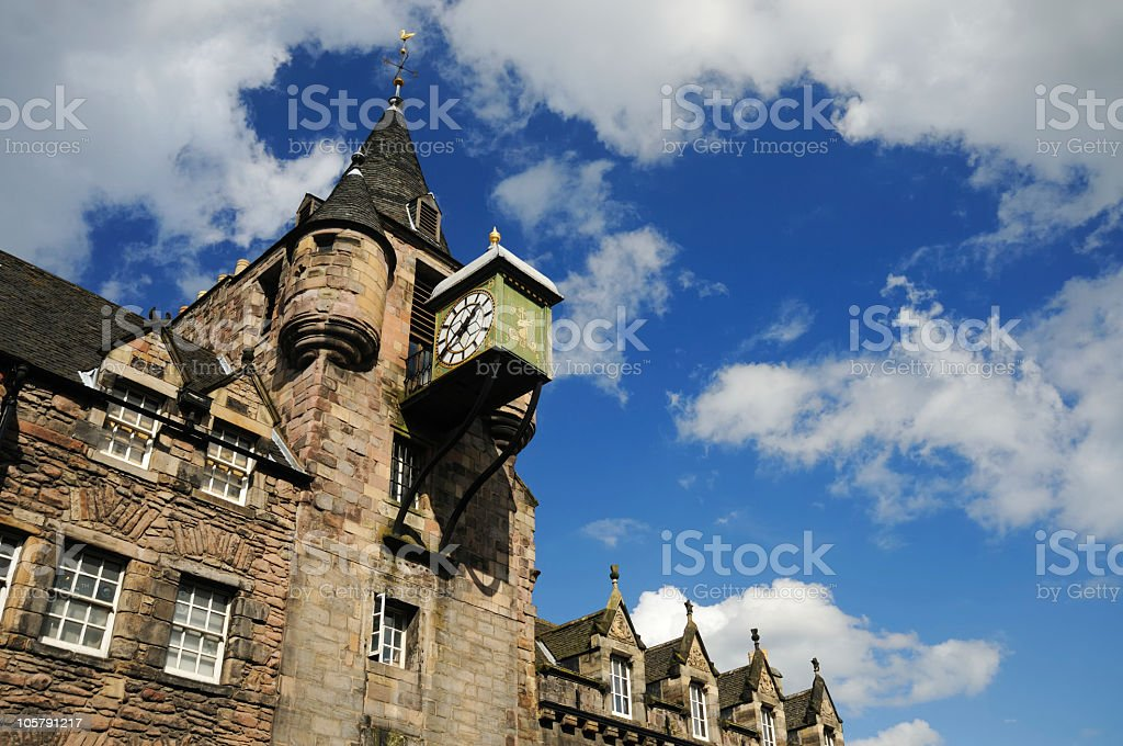 Canongate Clock, Royal Mile Edinburgh stock photo
